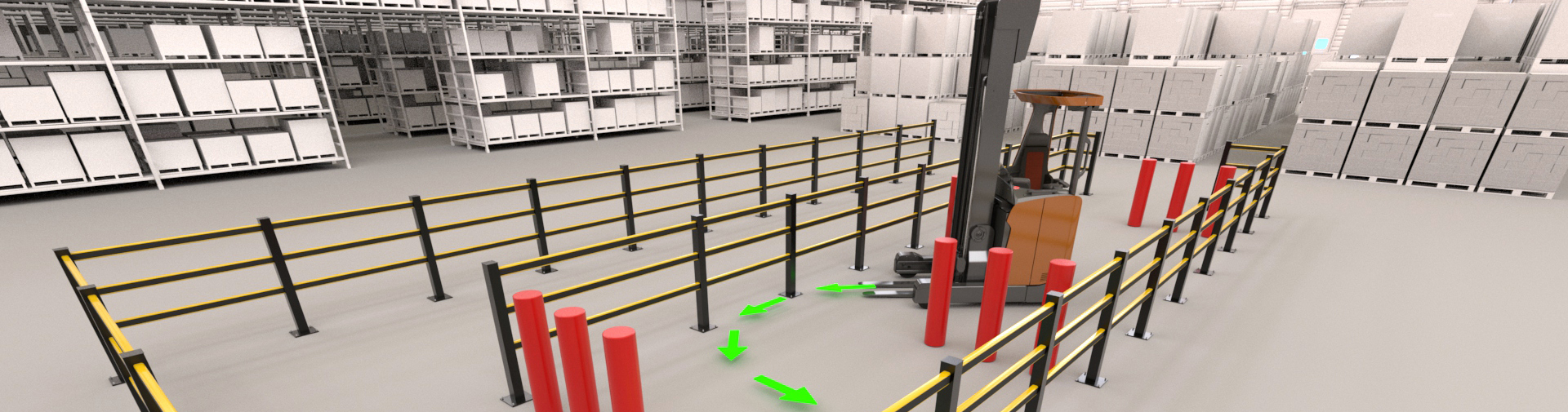 Reachtruck simulator environment training
