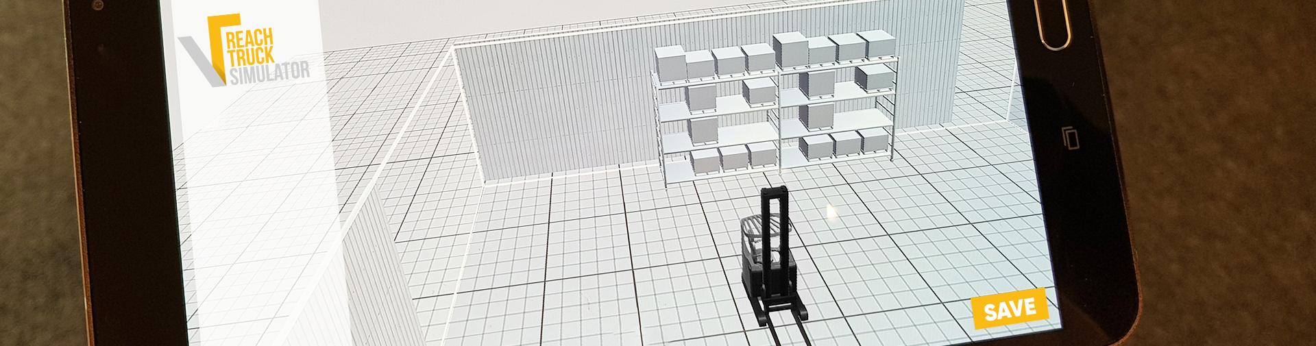 Reachtruck simulator environment builder