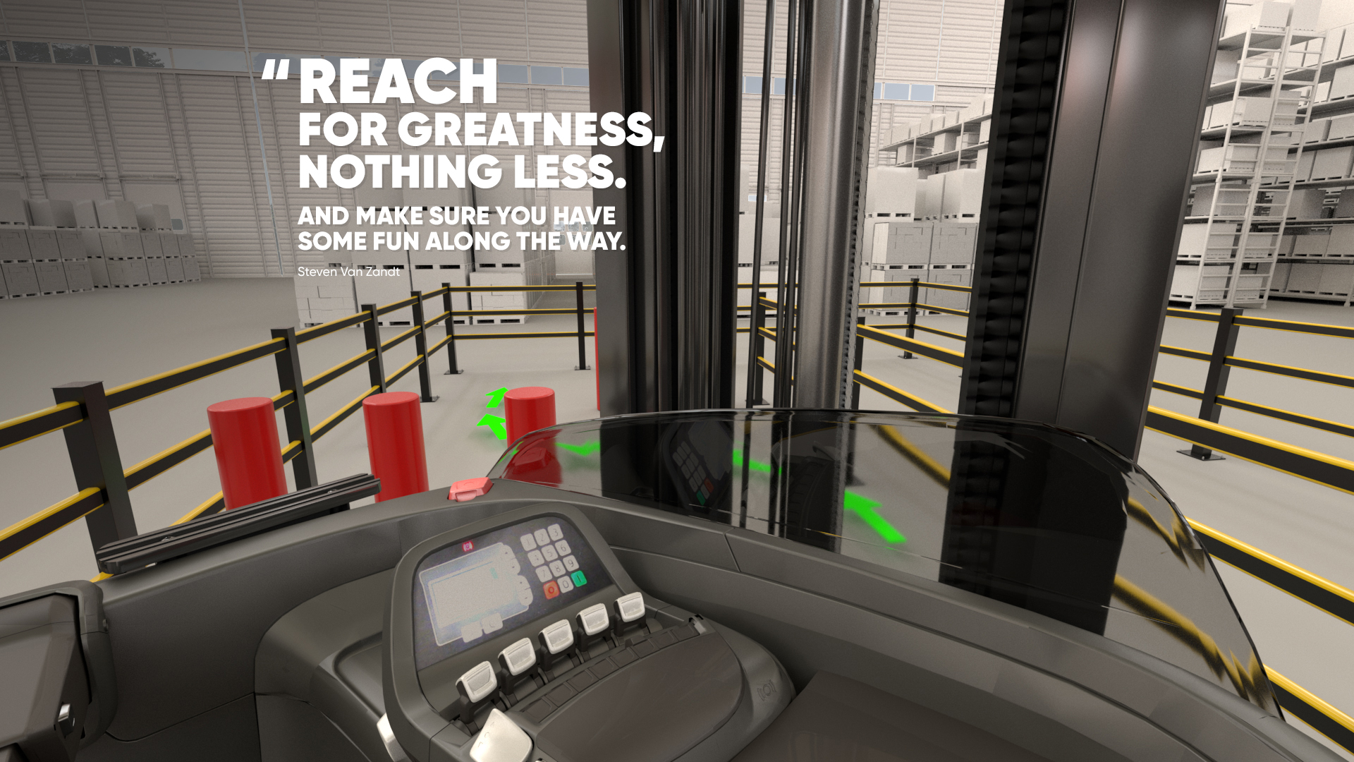 Reachtruck simulator virtual training